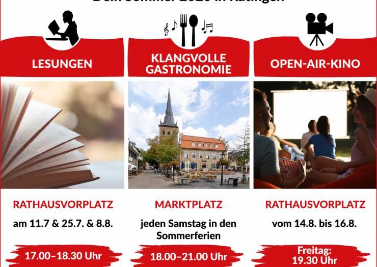 Ratingen Erleben! Dein Sommer 2020 in Ratingen – mit klangvoller Gastronomie, spannenden Lesungen und tollen Open-Air-Kino Erlebnissen